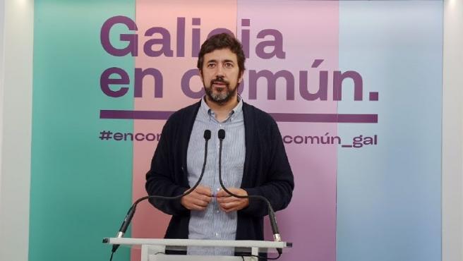 El portavoz de la coalición Galicia En Común Anova Mareas, Antón Gómez-Reino
