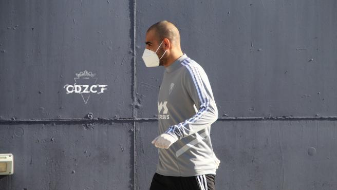 Fali, en su vuelta a los entrenamientos con el Cádiz.