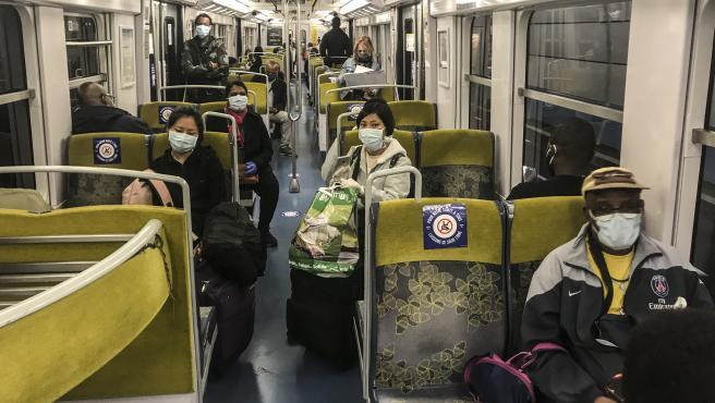 Few ride Paris subway after COVID sanctions eased