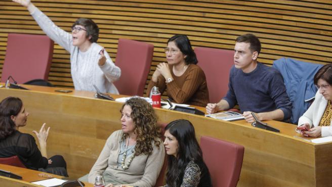 Imagen de archivo de Lima, Davó y el resto de Unides Podem en Les Corts