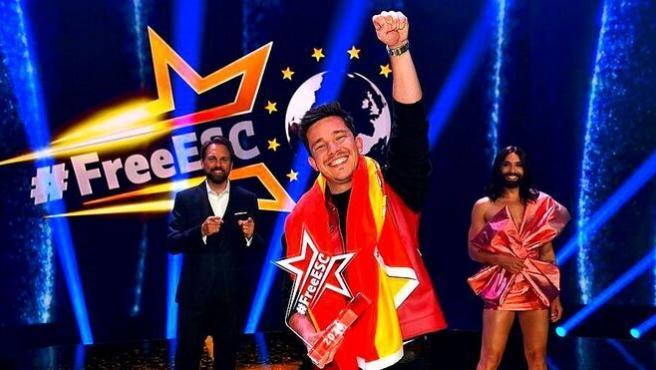 El cantante hispano-alemán Nico Santos gana en 'Free European Song Contest'.