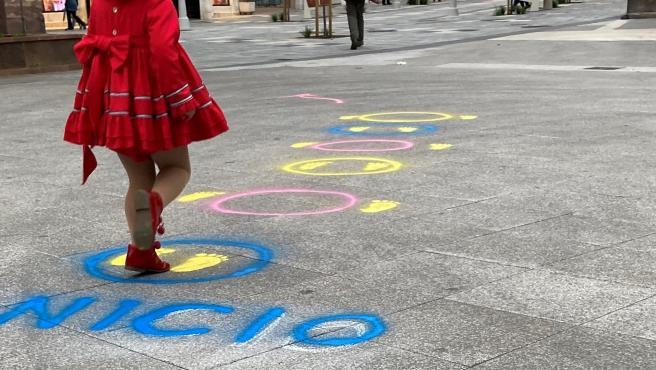 Pintadas de la iniciativa de zonas de juego en las calles