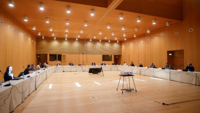Reunión de representantes del Ejecutivo foral, la Delegación del Gobierno y entidades locales