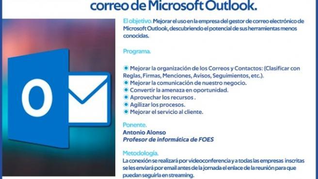 Formación de FOES sobre correo de Microsoft Outlook.