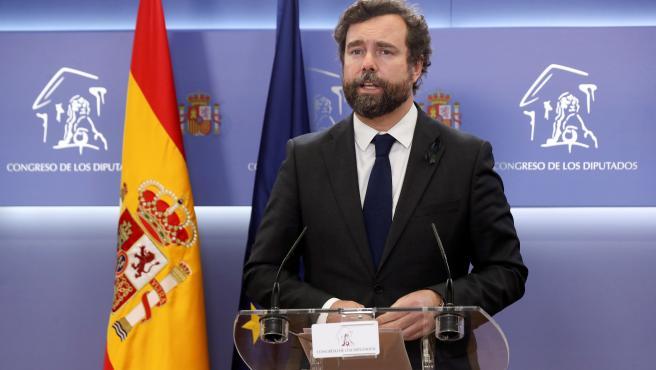 El portavoz de Vox, Iván Espinosa de los Monteros.