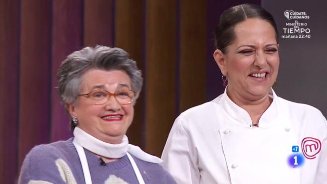 Juana y Yolanda Ramos, en 'MasterChef 8'.