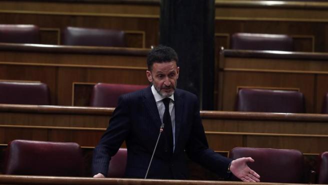 El diputado de Ciudadanos Edmundo Bal interviene desde su escaño en el Congreso.