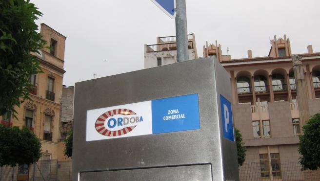 Máquina expendedora de tickets de los aparcamientos en zona azul en la capital, en una imagen de archivo.