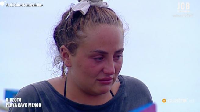 Rocío Flores, en el puente de las emociones de 'Supervivientes'.
