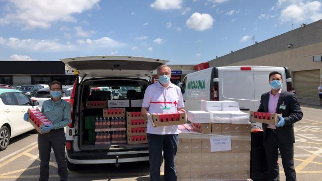 Una de las acciones realizadas durante el estado de alerta por el coronavirus en la que se donaron 17.800 kilos de alimentos a entidades sociales de Valencia y Castellón