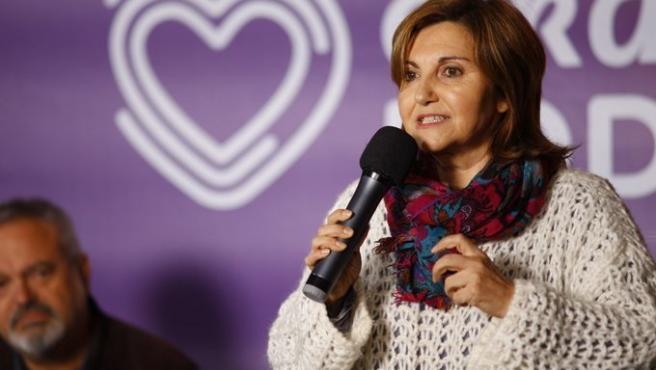 La candidata de Elkarrekin Podemos Pilar Garrido