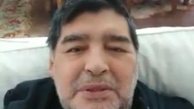 Maradona, en su mensaje de ánimo a Turki Al-Sheikh.