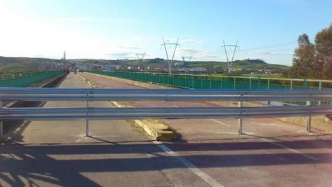 Puente de la Señorita durante la etapa de 2013 en la que estuvo cerrado