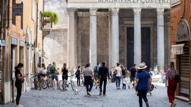 Roma, durante la desescalada.