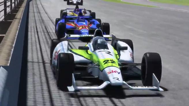 Button y Alonso, en las 500 millas de Indianápolis virtuales.