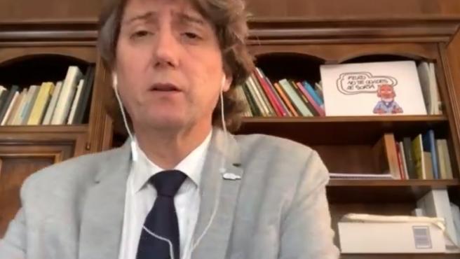 Captura de pantalla del alcalde de Soria, Carlos Martínez, tras la Junta de Gobierno Local.