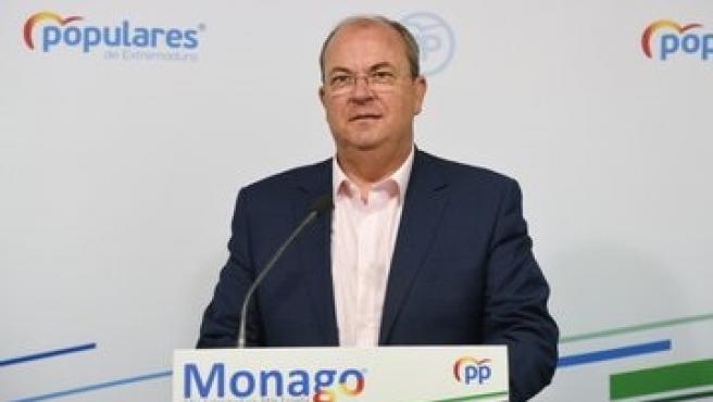 José Antonio Monago en una rueda de prensa