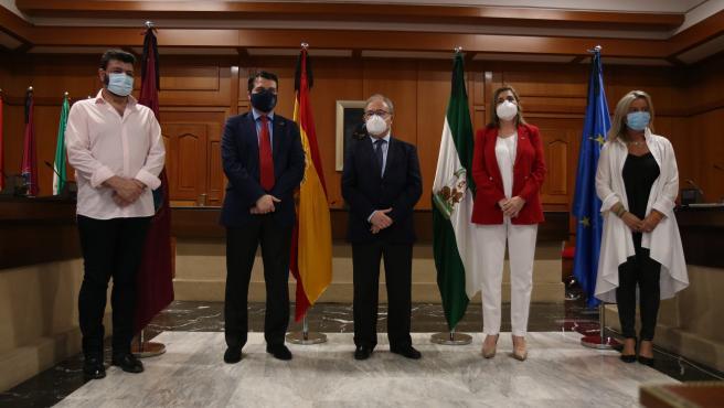 José María Bellido con Isabel Albás, Antonio Díaz, Marina Borrego y Vicente Palomares.