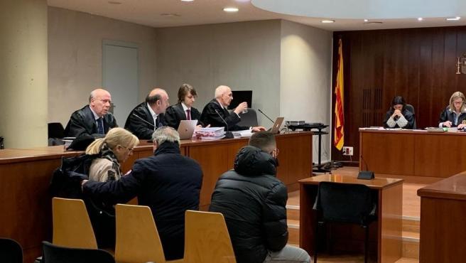 Juicio por estafas a aseguradoras en Lleida en enero de 2020.