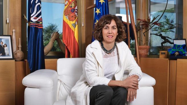 La presidenta del Consejo Superior de Deportes (CSD), Irene Lozano, en su despacho en la sede de dicho organismo en Madrid