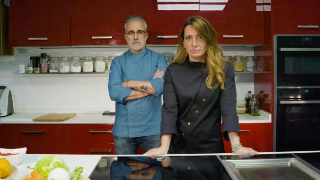 Sergi Arola y Begoña Rodrigo, en 'La última cena', de Telecinco.