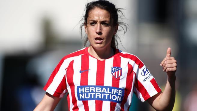Olga García, durante un partido del Atlético de Madrid