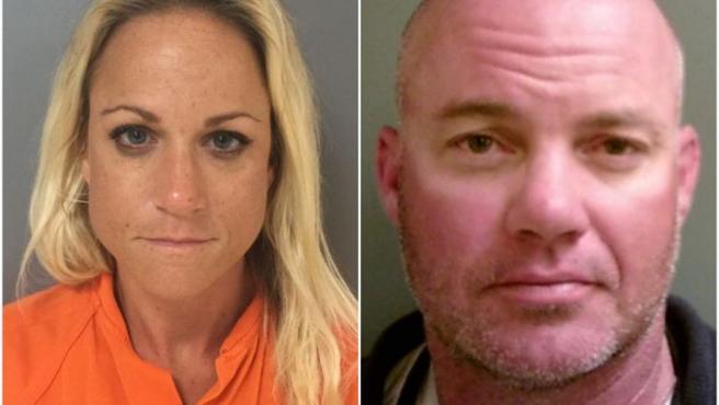 Imagen de la ficha policial de Cynthia y Dennis Perkins.