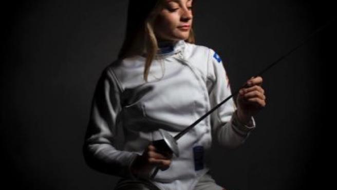 Teresa Díaz, miembro del equipo nacional de Florete femenino.