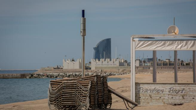 silla marina playa barcelona