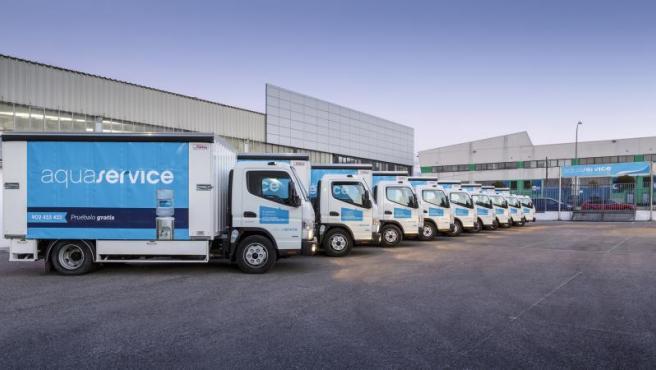 Flota de camiones de Aquaservice.