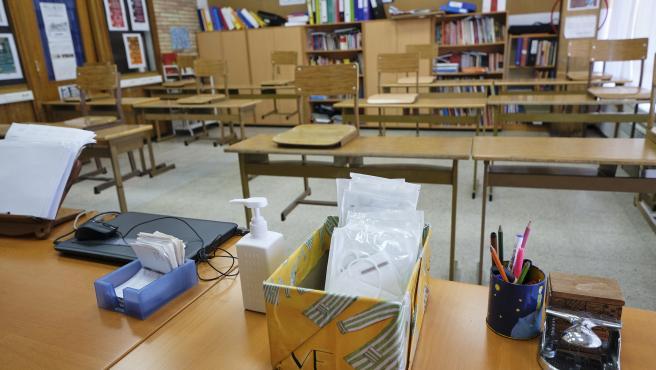 Medidas seguridad en el Colegio Virgen de Europa en Boadilla del Monte