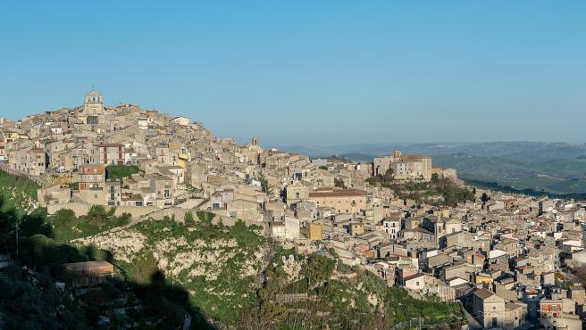 Panorámica de la localidad siciliana de Mussomeli.