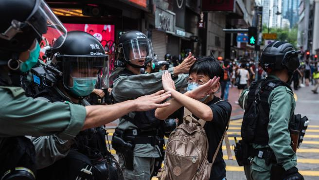 Protest against HK National Security Law in Hong Kong