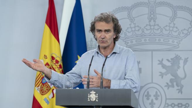 El director del Centro de Coordinación de Alertas y Emergencias Sanitarias, Fernando Simón, comparece en la rueda de prensa telemática. En Madrid, (España), a 22 de mayo de 2020.