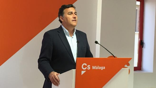 El parlamentario andaluz de Ciudadanos y portavoz del partido en Málaga, Carlos Hernández White.