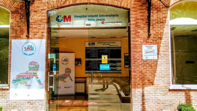 Entrada al Hospital Infantil Niño Jesús de Madrid.
