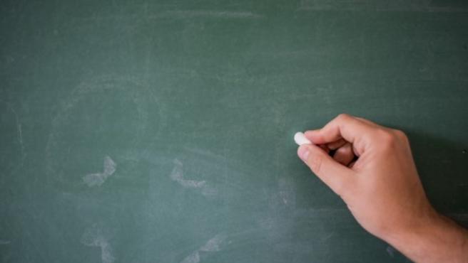 Imagen de una pizarra escolar