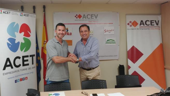 Los presidentes de la ACET, Antonio Sebastián Pastor (izquierda); y de la ACEV, Fernando Lisbona (derecha) en una fotografía de archivo