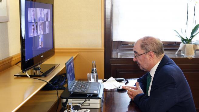 Reunión de Javier Lambán con representantes de la FAMCP.