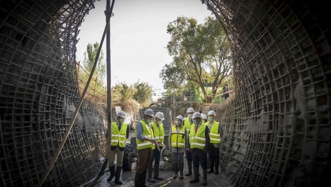 Visita a las obras de reparación de la carretera provincial entre Maracena y Albolote