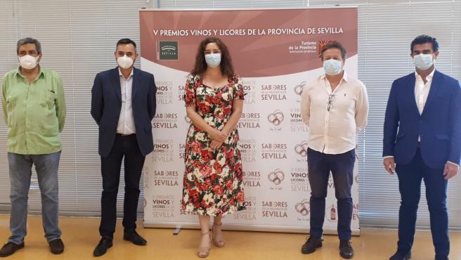 Cata de vinos del V Premio 'Vinos y Licores de la provincia de Sevilla', que organiza la Diputación a través de Prodetur