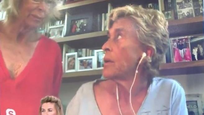 Chelo García-Cortés y su mujer, Marta Roca, discuten en 'Sálvame'.