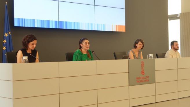 La consellera Mireia Mollà durante la presentación del borrador de la Ley Valenciana de Cambio Climático y Transición Ecológica
