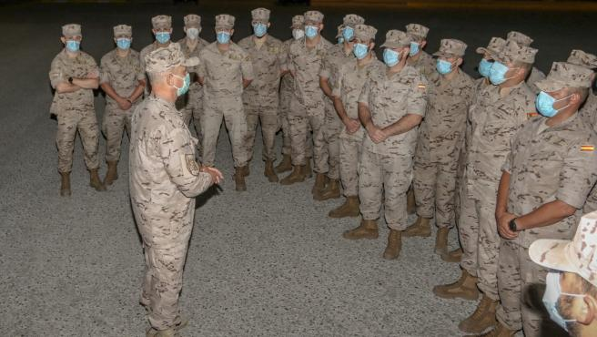 Despedida de la primera rotación de la Fuerza de Infantería de Marina para Mali