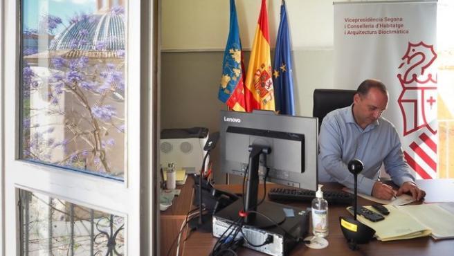 El vicepresidente segunda y conseller de Vivienda y Arquitectura Bioclimática, Rubén Martínez Dalmau