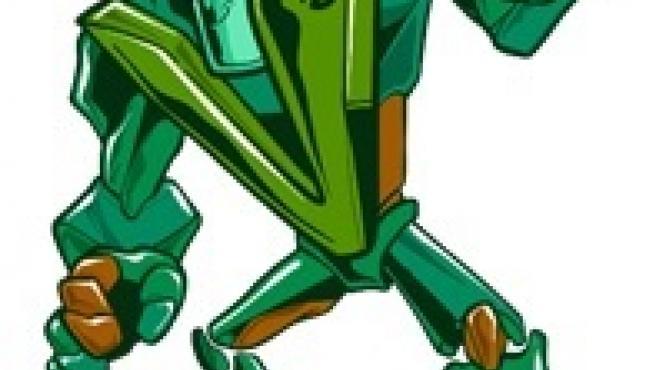 Imagen del superhéroe Megavidrio, una de las imágenes de la campaña de Hefame