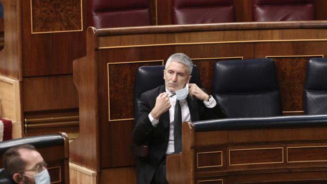 Marlaska elude contestar a la oposición si ordenó pedir información al coronel c