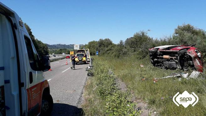 Accidente de tráfico en Siero.