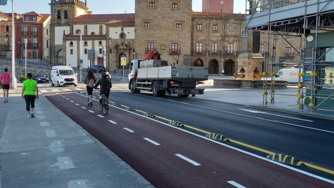Ciudadanos pide la puesta en marcha de una campaña informativa sobre el ciclo carril de la avenida de la Costa