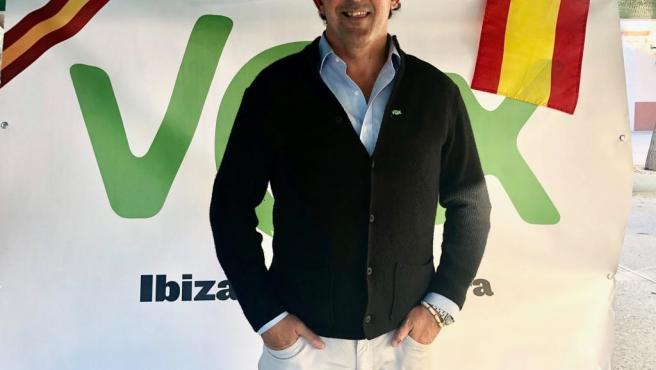 El excandidato de Vox al Senado por Ibiza y Formentera, José Luis Sánchez Saliquet.